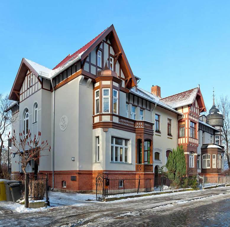 Jugendstilvilla in Erfurt – Straßenansicht