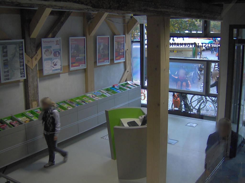 Touristenformation Jena – Innenraum