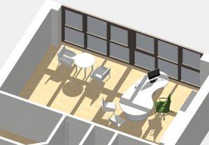 Sprechzimmer - 3D-Entwurf