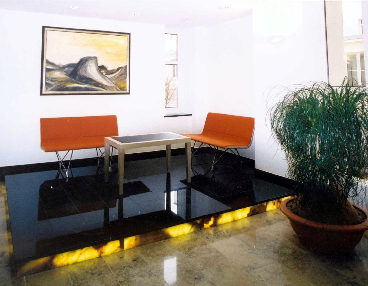 Foyergestaltung Jenapharm AG, Jena – Sitzgruppe