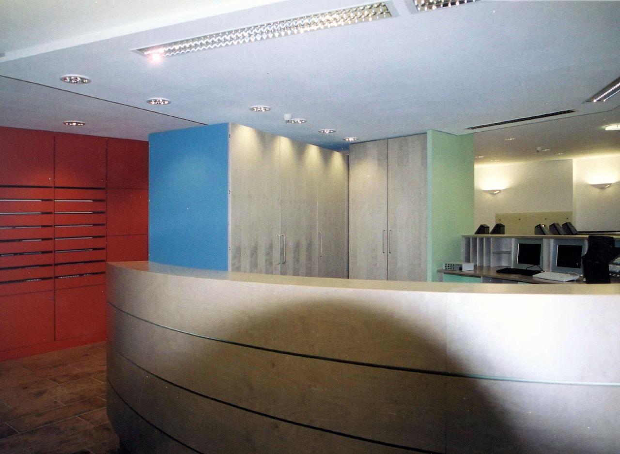 Foyergestaltung Jenapharm AG, Jena – Tresen