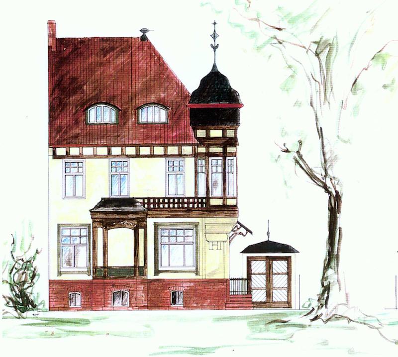 Jugenstilvilla in Erfurt  – Farbentwurf