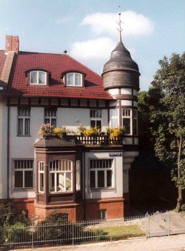 ugenstilvilla in Erfurt – Straßenansicht