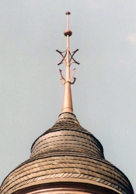 Jugenstilvilla in Erfurt  – Turmspitze